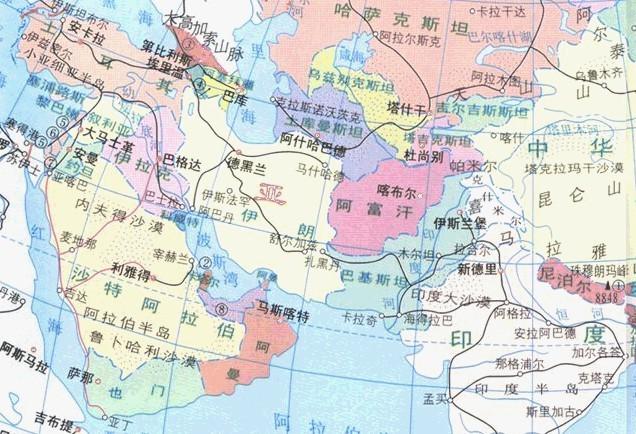 阿联遒地图